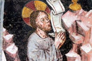 святой сложил руки в молитве