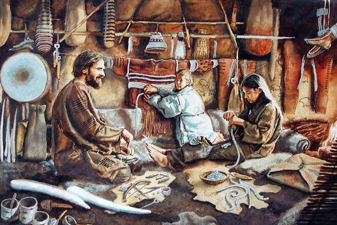 Жители Сунгиря занимаются своими делами