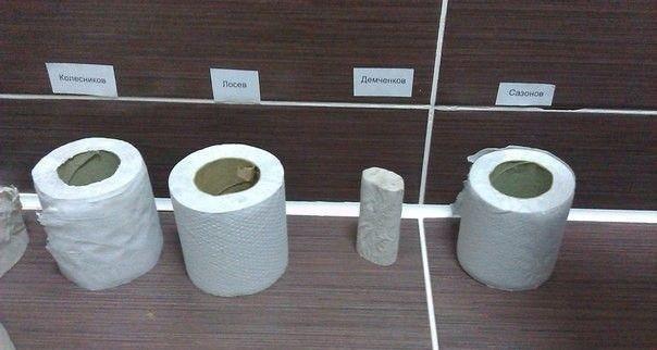 Тонкий юмор в офисном туалете