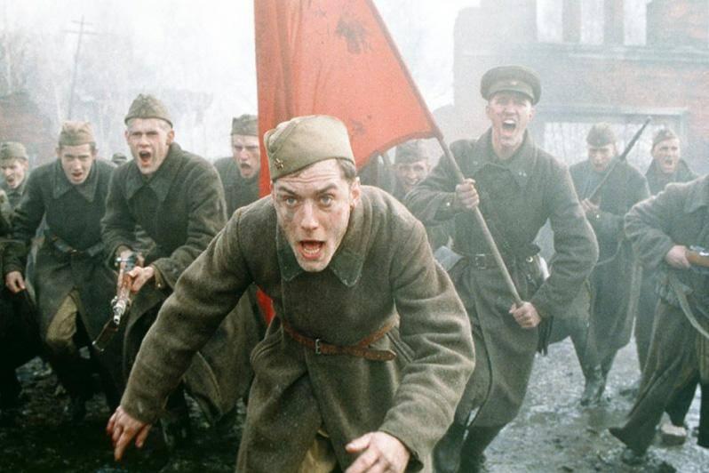 "Кадр из фильма ""Враг у ворот"""