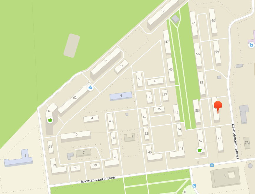 51-й дом на карте микрорайона Белая Дача
