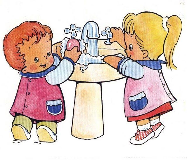 Картинки ребенок умывается рисованные